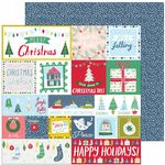 Pinkfresh Studio - Home For The Holidays - Happy Holidays 12 x 12 Paper